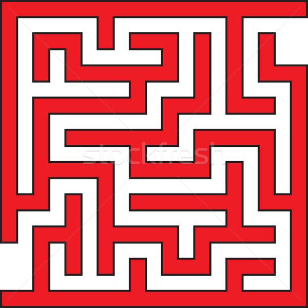 Simple Square Maze Stock photo © Suljo