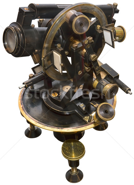 Old Brass Theodolite Stock photo © Suljo
