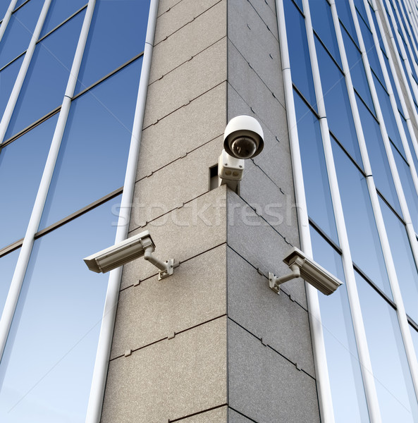 Security cameras on the wall Stock photo © Suljo