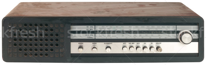 Stock photo: Old Black Radio Tuner Cutout