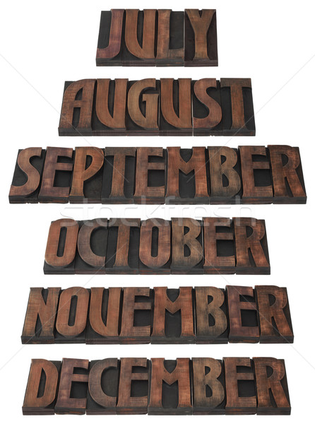 Stock photo: Year Month Calendar Cutout