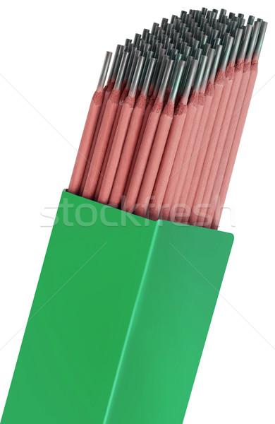 Soldagem caixa isolado verde Foto stock © Suljo