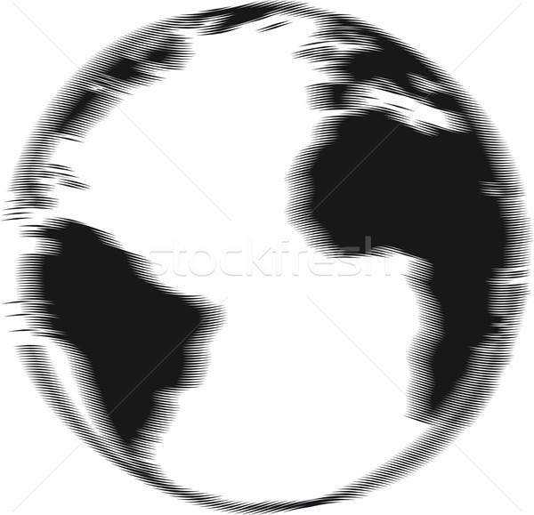 Engraved earth Stock photo © Suljo