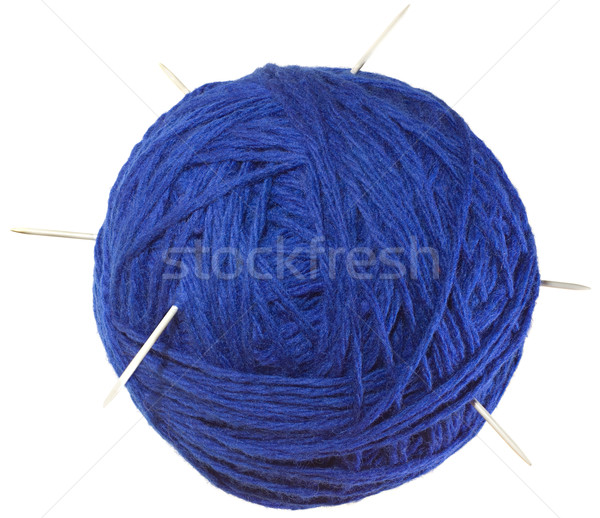 Blue Ball of Wool Cutout Stock photo © Suljo