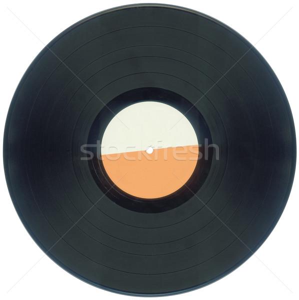 Lemez kivágás üres bakelit izolált vágási körvonal Stock fotó © Suljo