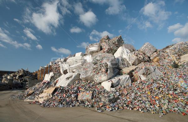 отходов Recycle пива аннотация металл пакет Сток-фото © Suljo