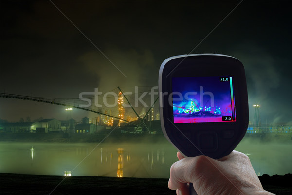 Petrochemical Plant Infrared Stock photo © Suljo