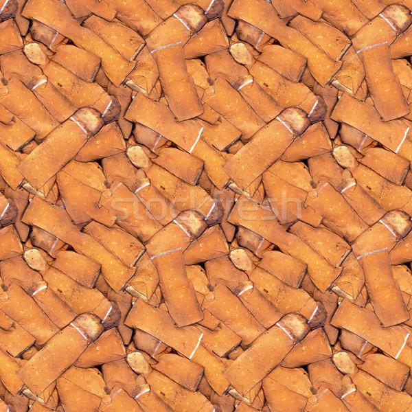 Sigaret naadloos textuur patroon abstract butt Stockfoto © Suljo