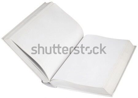 пусто книга открытых белый страница Сток-фото © Suljo