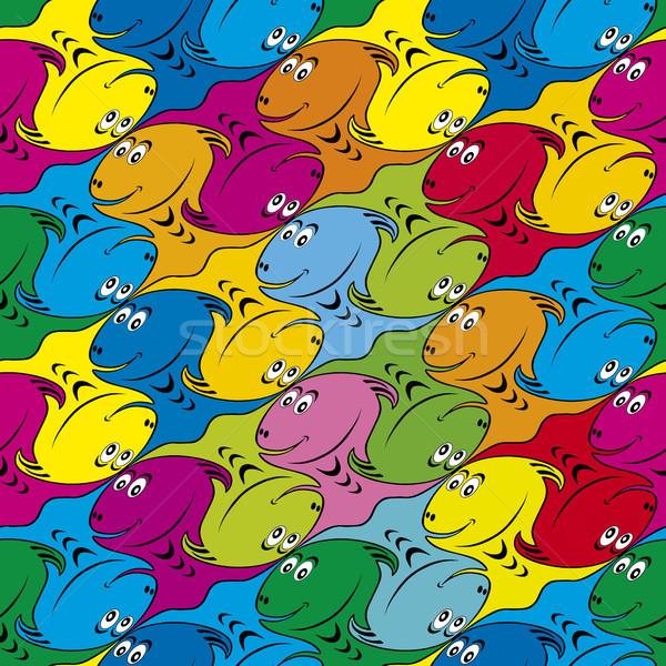 Seamless Fish Background Stock photo © Suljo