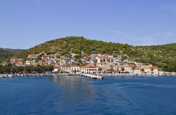 Vis Harbor Stock photo © Suljo