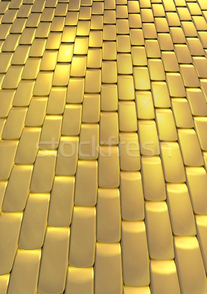 Altın doku altın Roma tuğla sokak soyut Stok fotoğraf © Suljo