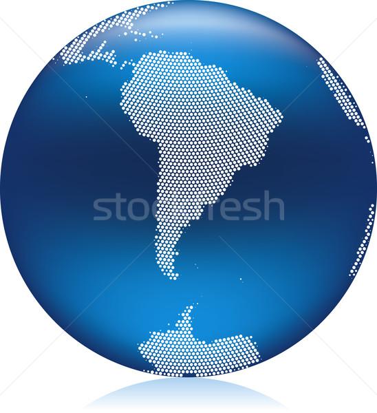 синий мира земле шаблон Южной Америке Сток-фото © Suljo