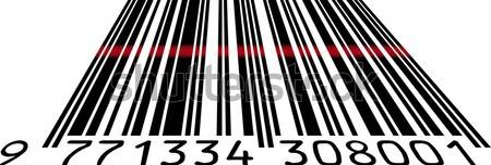 Barkod bayrak alışveriş pazarlama grafik ekonomi Stok fotoğraf © Suljo