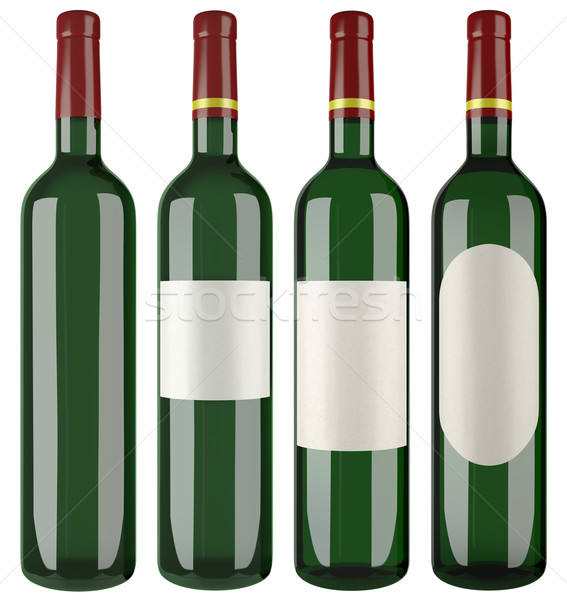 Wine Bottle Cutout Stock photo © Suljo
