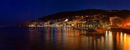 Ville Croatie nuit panorama bâtiment mer Photo stock © Suljo