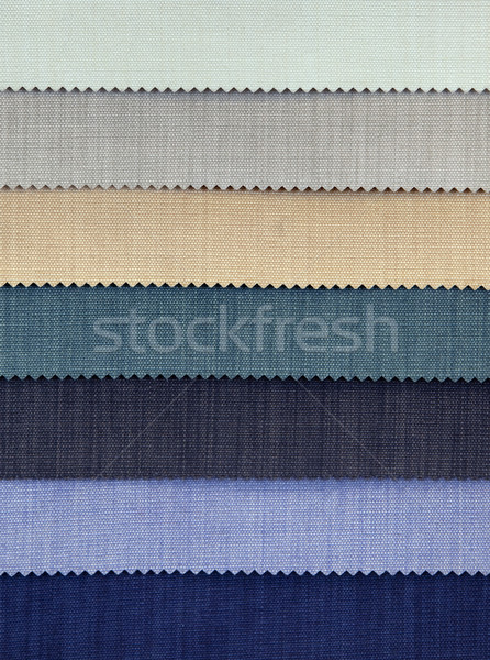 Cold Tones Fabric Samples Stock photo © Suljo