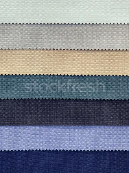 Soğuk kumaş renkli çuval bezi perde Stok fotoğraf © Suljo