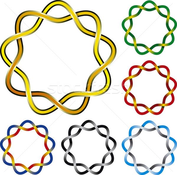 Kelt düğüm altı karmaşık dizayn bağbozumu Stok fotoğraf © Suljo