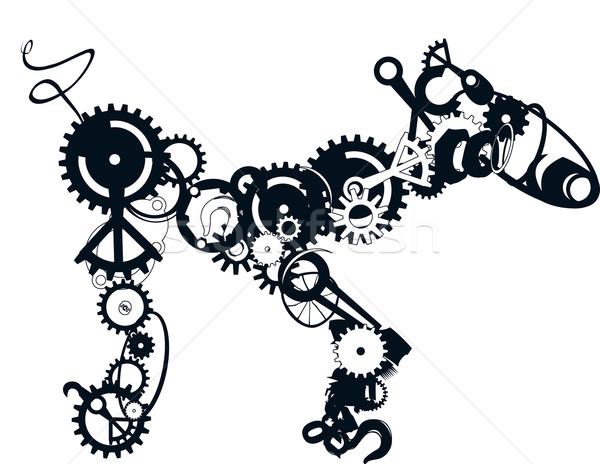 Mechanical Dog Vector Stock photo © Suljo