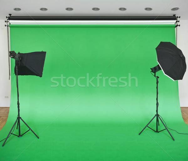 Green Studio Backdrop Stock photo © Suljo