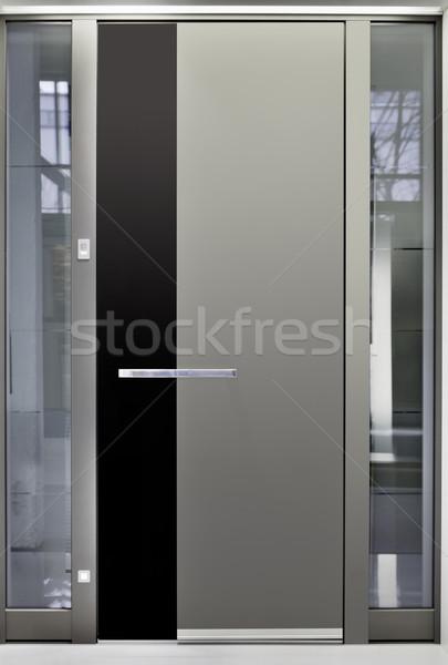 アルミ フロントドア メタリック セキュリティ 家具 アーキテクチャ ストックフォト © Suljo