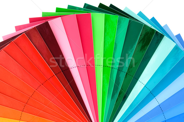 Color Swatch Fan Cutout Stock photo © Suljo