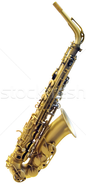 Stock photo: Cutout of Saxophone