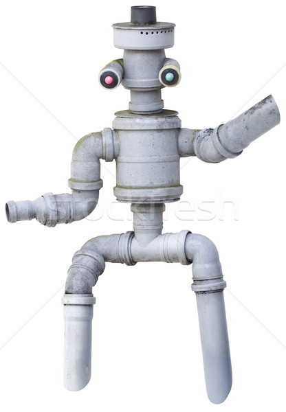 Robot Puppet Cutout Stock photo © Suljo