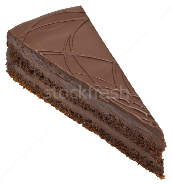 Chocolate Cake Cutout Stock photo © Suljo