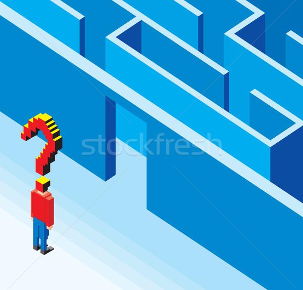 Entering the 3D Labyrinth  Stock photo © Suljo