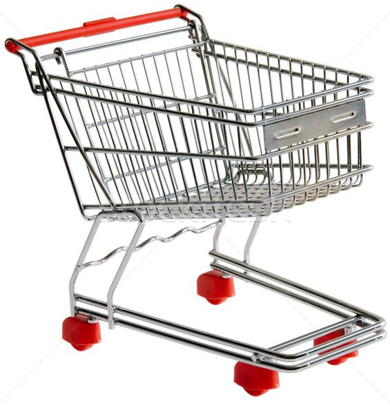 Shopping trolley cutout Stock photo © Suljo