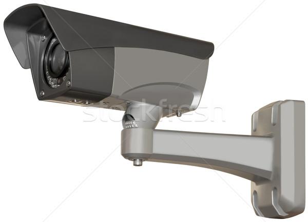 Biztonsági kamera kivágás fémes izolált vágási körvonal technológia Stock fotó © Suljo