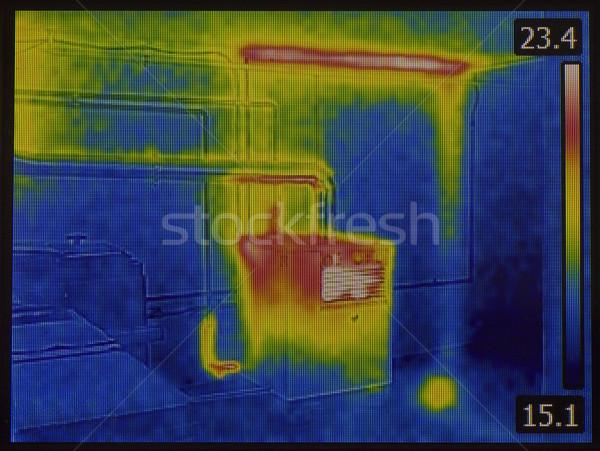 Hő kép központi fűtés kályha infravörös Stock fotó © Suljo