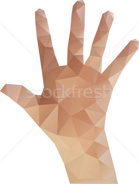 Low Poly Hand Stock photo © Suljo