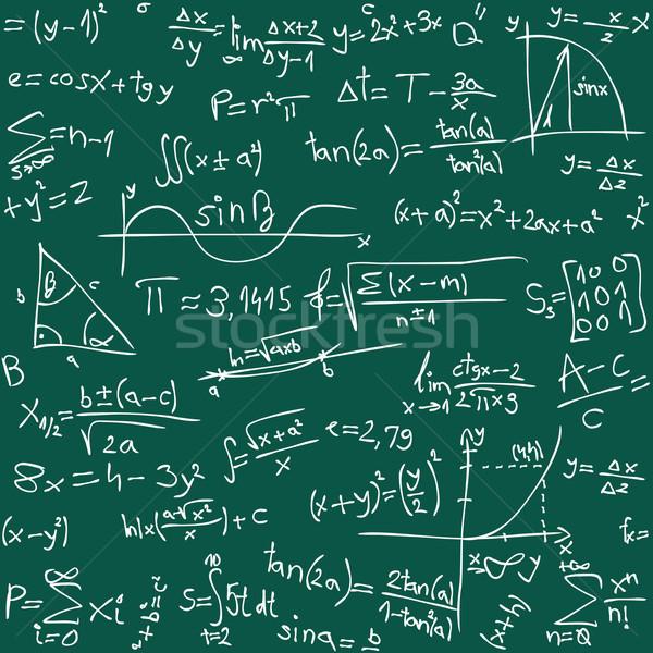Math senza soluzione di continuità design segno scienza lavagna Foto d'archivio © Suljo