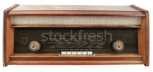 Photo stock: Radio · vieux · isolé · communication