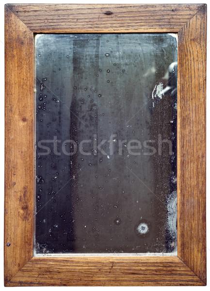 木製 ミラー カットアウト 古い さびた 壁 ストックフォト © Suljo
