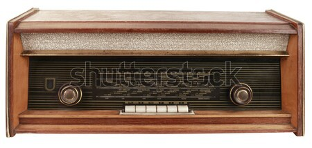 Vintage radio Cutout Stock photo © Suljo