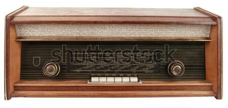 Klasszikus rádió kivágás öreg izolált fehér Stock fotó © Suljo