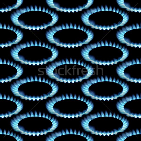 Gas naadloos textuur brand abstract Stockfoto © Suljo