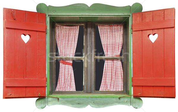 Chalet Window Cutout Stock photo © Suljo
