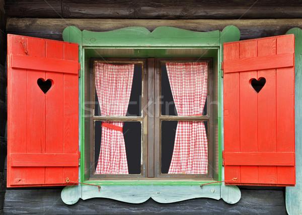 Chalet Window Stock photo © Suljo