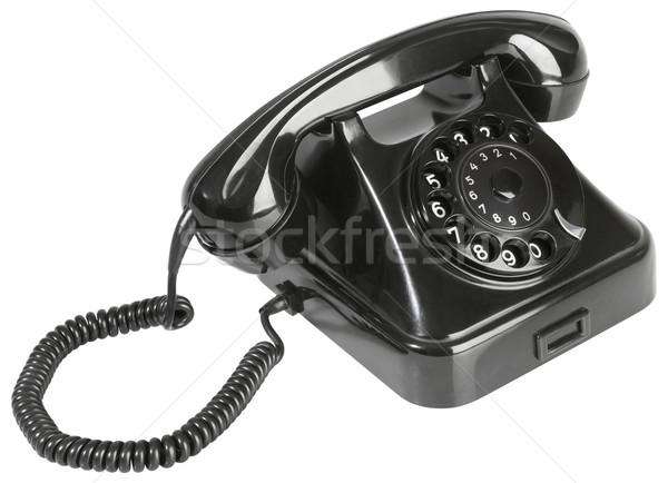 Old Black Bakelite Telephone Cutout Stock photo © Suljo
