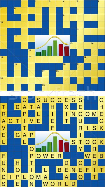 Crossword puzle Stock photo © Suljo