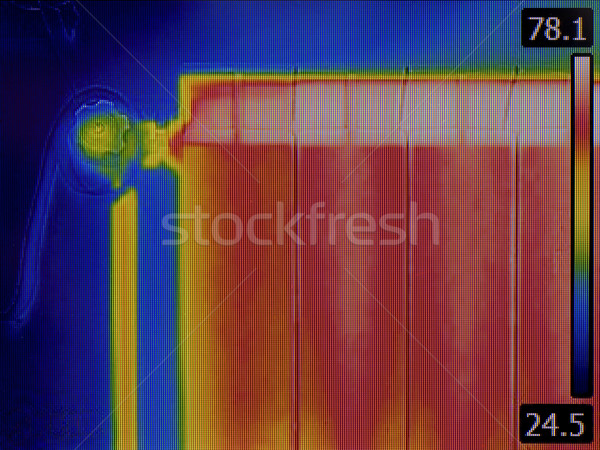 Radiator Heater Thermal Image Stock photo © Suljo