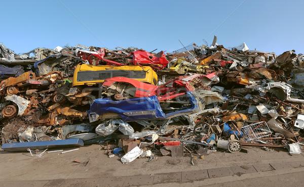Crashed Car Pile Stock photo © Suljo