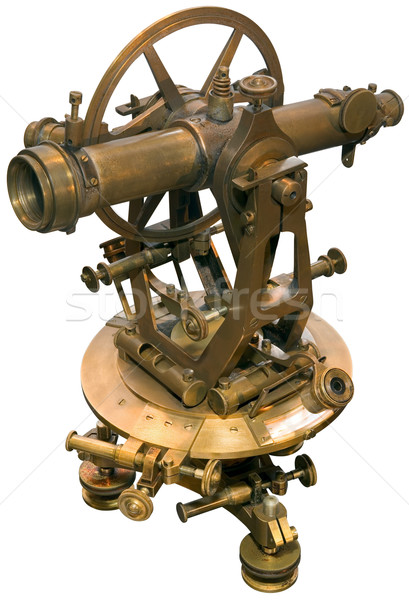 Old theodolite tacheometer cutout Stock photo © Suljo