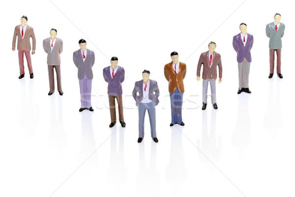 Formation hiérarchie affaires figurine homme affaires Photo stock © Suljo