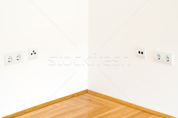 Esquina pared simétrico vista simple blanco Foto stock © Suljo